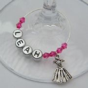 Dancing Dress Personalised Wine Glass Charm